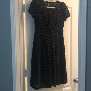 Black Marc by Marc Jacobs dress with velvet hearts